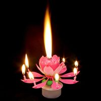 Свеча Лилия с музыкой и светом