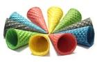 Вафельные рожки с ровным краем цветное ассорти, 5494198