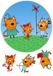 Вафельная картинка Три кота2, Д20