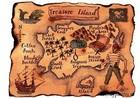 Картинка вафельная Карта пирата, А4