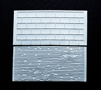 Молд для мастики/марципана   текстура древесины и кирпичные стены