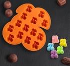 Форма для льда и шоколада Доляна «Зимняя вишня», 18×17×1,8 см, 14 ячеек, цвет МИКС