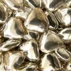 Сердечки шоколад.серебряные, 100 гр