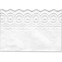 Лента бордюрная бумажная,белая.Высота 7 см, 1 м