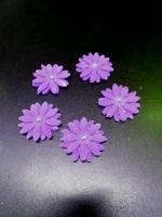 Сахарное украшение, Цветочки, фиолет , 5 шт