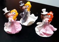 Сахарн. украшение Композиция свадеб. БЕЛЫЙ ТАНЕЦ, в розовом