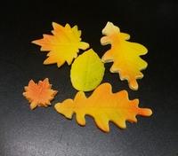 Сахарное украшение Листья осени, 5 шт