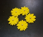 Сахарное украшение, Цветочки, желтые , 5 шт