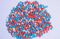 Посыпки Звезды, красно-бело-синие, мини , 100 гр