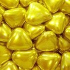 Сердечки шоколад. золотые, 100 гр
