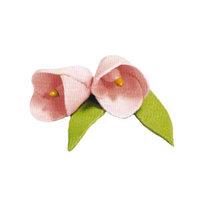 Сахарное украшение КОЛОКОЛЬЧИК розовый с лист ,набор