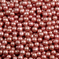 Шарики сахар.красные 5 мм.металл , 100 гр