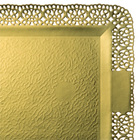 Поднос прямоуг.золото ЛЕОНАРДО 32х42 см