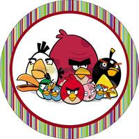 Вафельная картинка Birds  Злые птички, круг 20*20