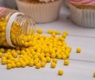 Сахарное драже глянец, жёлтый , 5 мм, 100 г