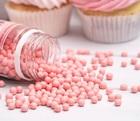 Сахарное драже глянец, розовый, 5 мм, 100 г