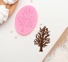Молд силиконовый «Дерево», 8,2×6 см, цвет МИКС 4288388
