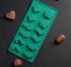 Форма для льда и шоколада «Новый год», 21,5×10 см, 12 ячеек, 2389425