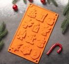 Форма для льда и шоколада «Новый год», 29,3×17,3 см, 12 ячеек, 3624961