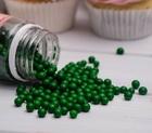 Сахарное драже глянец, зелёный, 5 мм, 100 г
