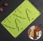 """Форма для льда и шоколада 3D 4 ячейки """"Ёлка"""" 28×18,1×1 см, цвета МИКС 4325811"""