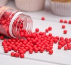 Сахарное драже глянец, красный, 5 мм, 100 г