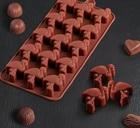 Форма для льда и шоколада «Фламинго», 15 ячеек, 4149594