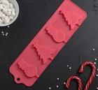 Форма для леденцов и мороженого «Новый год», 31×9 см, 4 ячейки, цвет МИКС 2389463