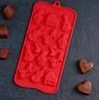 Форма для льда и шоколада «Музыкальные инструменты», 21,5×10,5 см, 14 ячеек 4324219