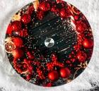 Подставка для торта вращающаяся «Новогодний венок», d=32 см 5046418
