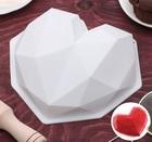 """Форма для муссовых десертов и выпечки 21,5×20 см """"Геометрия любви"""", цвет белый 2582047"""