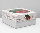 """упаковка для торта, """"Красные розы"""", 2 кг, 29,5 х 29,5 х 15 см"""