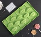 Форма для леденцов и мороженого «Поцелуй», 10 ячеек (6×3см), 28,5×16 см, цвет МИКС