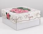 "Упаковка для торта, ""Розовые розы"", 2 кг,  29,5 х 29,5 х 15 см"