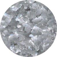 Глиттер серебряный-белый Flakes ,7 гр