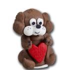Сахарные фигурки Собачка с сердцем, корич. , 1 шт