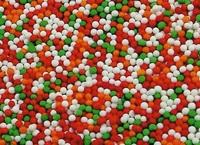 Шарики Микс №8 (красно-бело-оранжево-зелёный), 100 гр