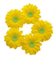 Сахарное украшение РОМАШКА, желтая с крас.серцевинкой, 5 шт