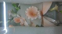 Цветочная ветка сахарная Большая ПЕРСИК , орхидея