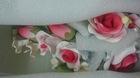 Цветочная ветка сахарная Большая КРАСНАЯ,  роза