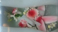 Цветочная ветка сахарная Большая КРАСНАЯ орхидея