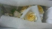 Цветочная ветка сахарная Большая ЖЕЛТАЯ роза