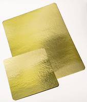 Подложка под торт прямоугольная, золото 30х40 см