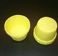 Форма бумажная МАФФИН ЖЕЛТЫЙ 50/35 мм. ,1 шт (не требует дополнительной поддерживающей формы)
