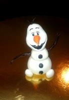 сахарное украшение, снеговик Олаф, 1 шт