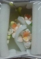 Цветочная ветка  Малая Орхидея персик