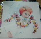 Вафельная картинка Ангелочек с герляндой (20см*20см)