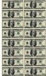 Вафельная картинка Доллары, 16 шт