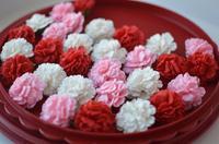 Сахарное украшение ,ГВОЗДИКА, розовая 1 шт