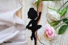 Топпер, пластик, танцующая Балерина, 1 шт